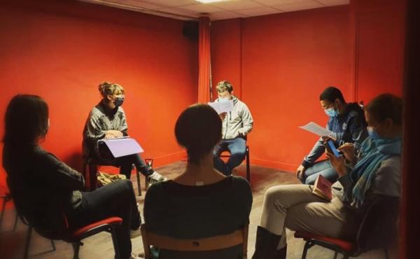 Troupe des Educ'acteurs en répétition 2021