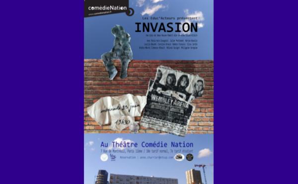Affiche théâtre Invasion Educ'acteurs