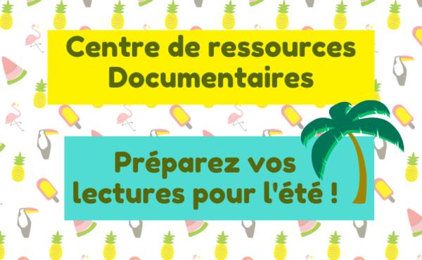 Affiche Centre de ressources documentaires Eté 2021